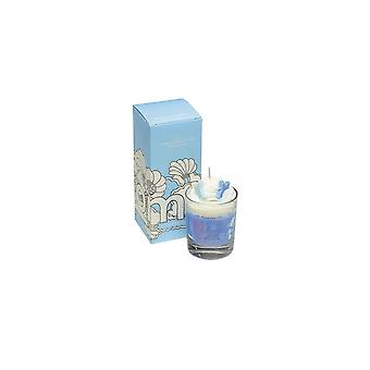 Bomb Cosmetics Piped Glass Candle - Cotton Clouds