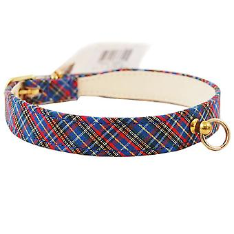 PET leverans import 431 pläd Scotch justerbar fancy dog Collar 7/8