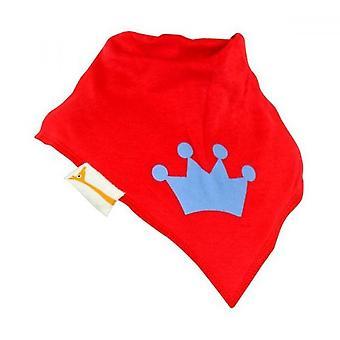 Röd & blå royal crown bandana bib