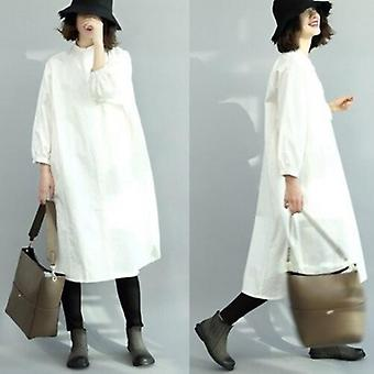 Übergroße Fit Langarm Kleid