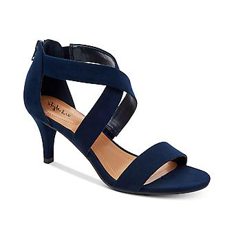 Style & Co. Womens Paysonn Suede Open Toe Ankle Strap Classic Pumps