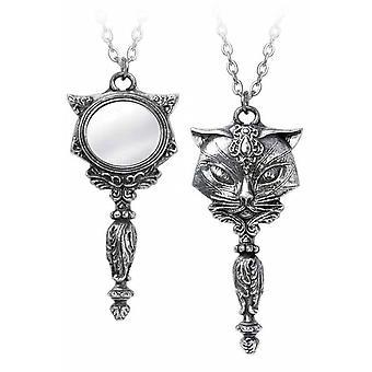 Alchemy Gothic Sacred Cat Vanitas Pendant