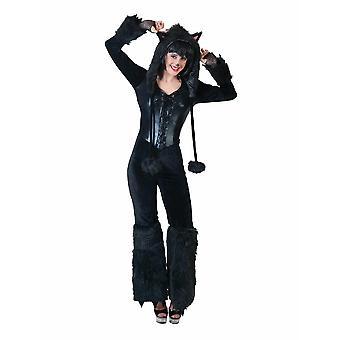 Costume de femme de Panthère Noir Noir Noir Noir Animal Costume Carnaval Carnaval Dames