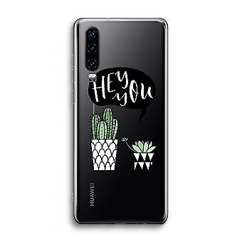 Huawei P30 Caja transparente - Hey tú cactus