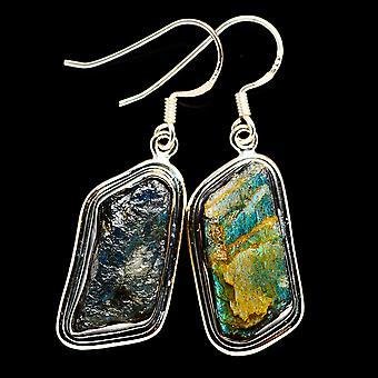 Rough Labradorite 925 Sterling Silver Earrings 1 3/4