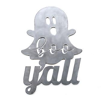 Boo y'all - metal cut sign 16x11in