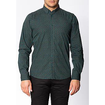 Merc TALBOT, Men's Long Sleeve Cotton Shirt with Small Paisley Print