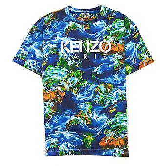 Kenzo World T-shirt Blu