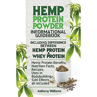 Hemp Protein Powder Informational Guidebook Including Difference Between Hemp Protein and Whey Protein Hemp Powder Benefits Nutrition Facts Recipes Uses in Bodybuilding Side Effects all included by Williams & Anthony