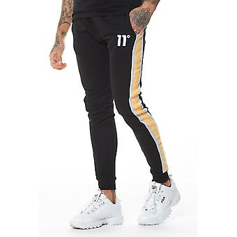 11 Degrees 11d Leon Black Joggers Skinny Fit Black