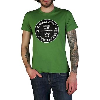 Versace Jeans - Clothing - T-Shirts - B3GTB76J_36610_130 - Men - forestgreen,black - XXL