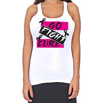 Junior's Dri Fit Go Fight Cure Breast Cancer Support T-Back Tank Top