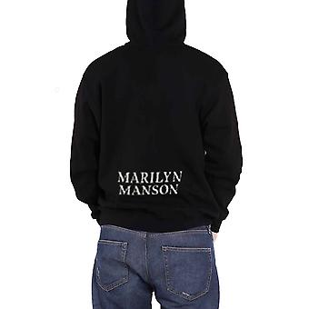 Marilyn Manson Hoodie Cross back print  Logo Ex Tour new Official Black Zipped