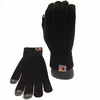 Watford FC Adults Unisex Knitted Touch Screen Gloves