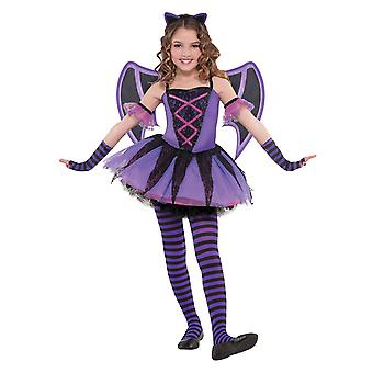 Ragazze Ballerina Bat Halloween Fancy Abito