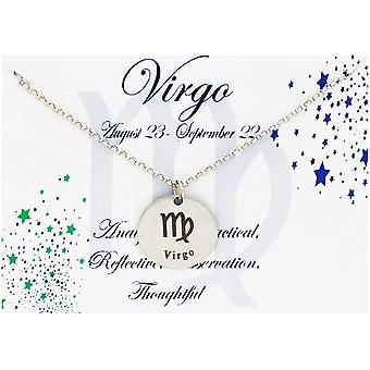 Personalized engraved star sign zodiac month birthstone necklace