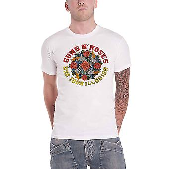 Guns N Roses T Shirt Use Your Illusion Vintage Band Logo new Official Mens White