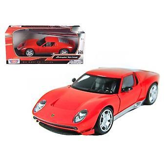 Lamborghini Miura Concept Red 1/24 Diecast Car Model By Motormax