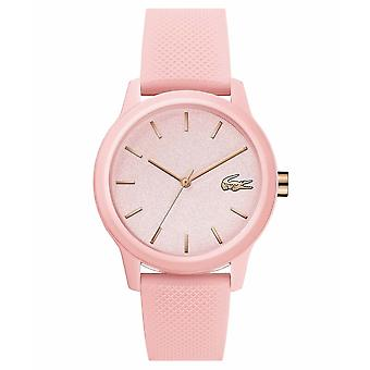 Lacoste 2001065 Women's 12.12 Pink Silicone Wristwatch