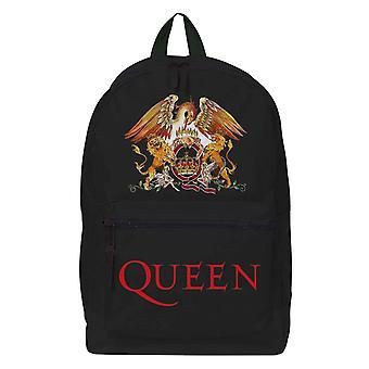 Queen Backpack Rucksack Classic Crest pocket Band Logo new Official Black