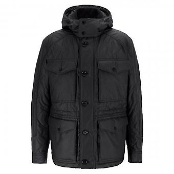 Hugo Boss Cutis Black Hooded Field Jacke 50412457