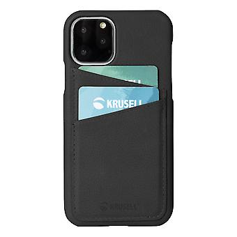 Krusell Sunne Card Cover voor Apple iPhone 11 Pro Max Black Case Beschermhoes