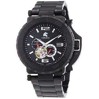 CAPA Watches CA2199BK-BK-men's wristwatch, steel, color: black