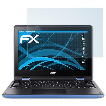 atFoliX Glass Protector compatible with Acer Aspire R11 Glass Protective Film 9H Hybrid-Glass