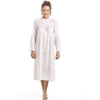 Camille Camille Womens gemusterte Langarm Nachthemd