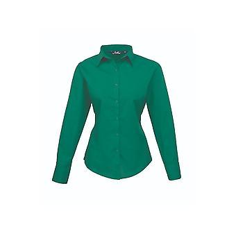 Premier long sleeve poplin blouse pr300 bright colours