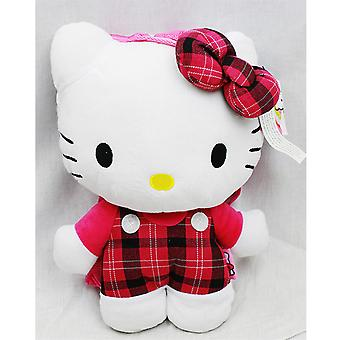Plush Backpack - Hello Kitty - Red Checker Pattern New Soft Doll Toys 67474