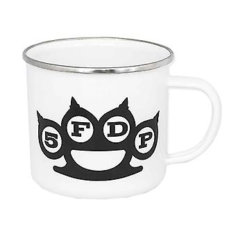 Five Finger Death Punch Mug Knuckles Band Logo new Official White Enamel