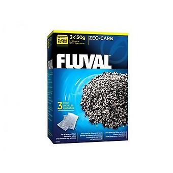 Fluval FLUVAL ZEO-CARB 3x150g (kala, suodattimet & vesipumput, suodattaa sieni ja vaahdon)
