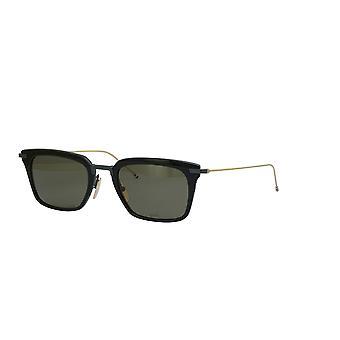 Thom Browne TBS916 Black Black Iron White Gold Temples/G15 Sunglasses