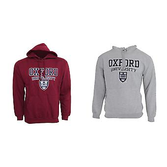 Mens Oxford University Print Hooded Sweatshirt Jumper/Hoodie Top