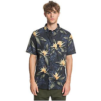 Quiksilver Poolsider Korte Mouw Shirt in Black Poolslider Ss