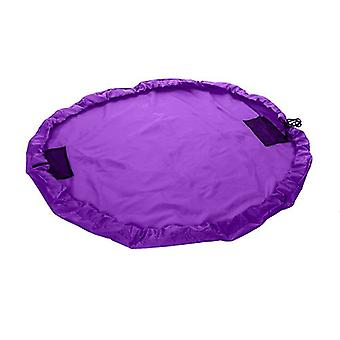 Purple Kids Waterproof Portable Toy Tidy Storage Bag Play Drawstring Bag Play