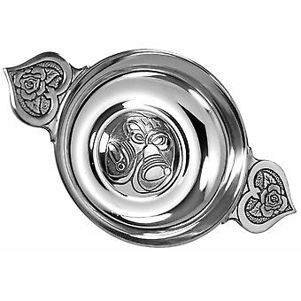 Wedding Bells Pewter Loving Bowl Quaich  - 4