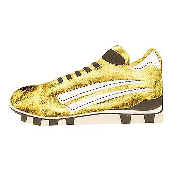Football Party Champions Boot Shaped Gold Foiled Paper Party Napkins x 8