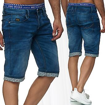 Men's Jeans Shorts Shorts Style Pants Denim Summer Bermuda Used Washed Stretch