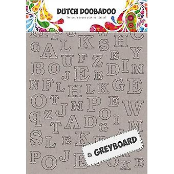 Dutch Doobadoo A6 Greyboard – Alphabet