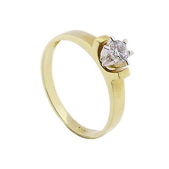 14 carat bicolor zirconia ring