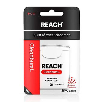 Reach cleanburst waxed floss, cinnamon, 55 yards