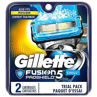 Gillette fusion proshield chill mens rakblad refiller, 2 ea
