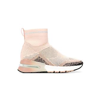 Ash Kyleglitter004 Women's Pink Fabric Hi Top Sneakers