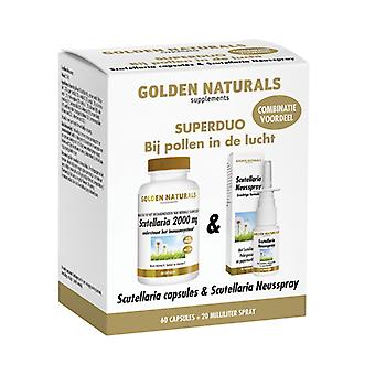Golden Naturals Scutellaria kapsułki + Scutellaria aerozol do nosa (1 duoset)