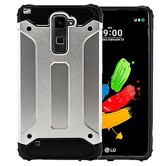 Shell pour LG Stylus 2 Plus / K530F Armor Silver Protection Case Hard