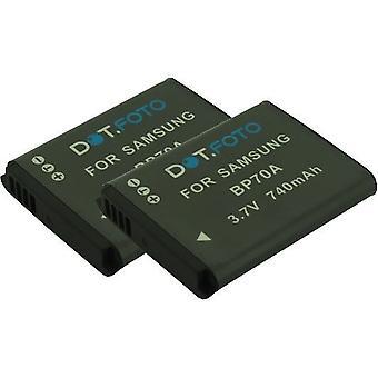 2 x Dot.Foto Samsung BP70A wymiany baterii - 3, 7V / 740mAh