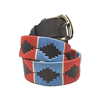 Carlos diaz unisex  brown leather  polo belt cdupb36