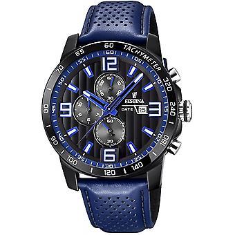 Festina F20339-4 Uomini's Gli originali Chronograph Wristwatch Blue